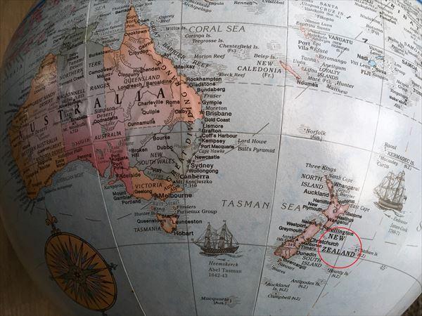 ニュージーランドの地図