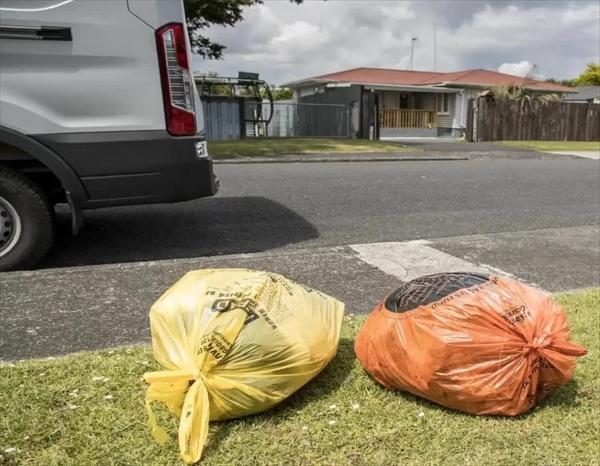 以前のゴミ収集はゴミ袋