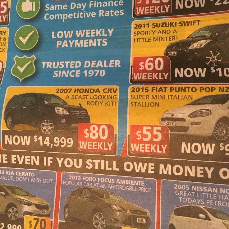 ニュージーランドで車を買う