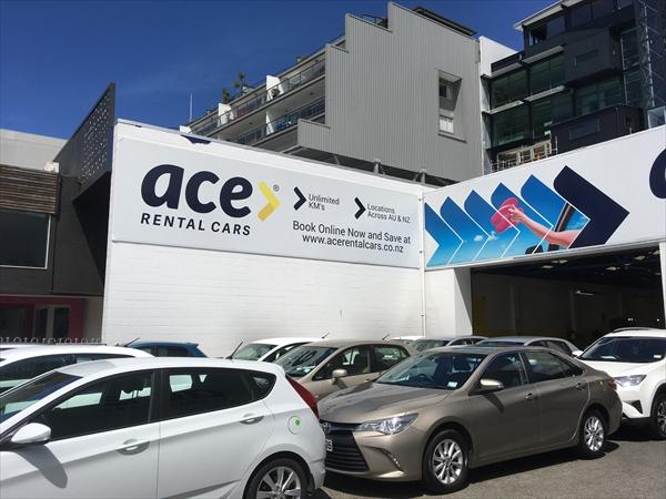 ニュージーランドのレンタカー会社ace