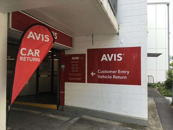 ニュージーランドのレンタカー会社AVIS