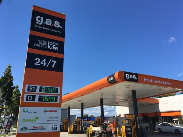 日本で聞いた事の無いガソリンスタンドも有る
