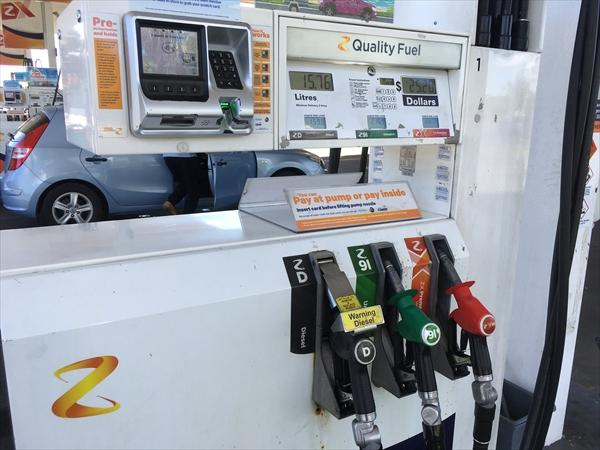ニュージーランドでガソリンの給油は難しくない