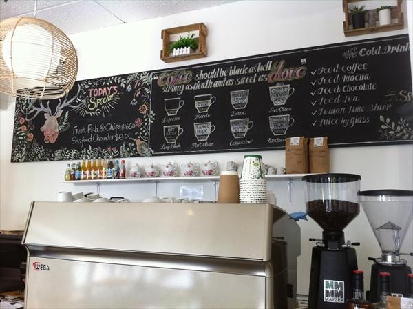 ニュージーランドのコーヒーの種類のメニュー