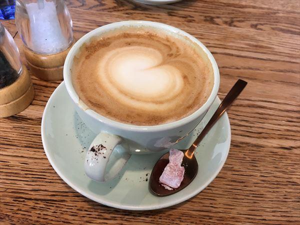 BODRUM Cafeのフラットホワイト